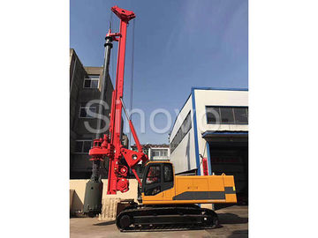 TR100 Rotary Hydraulic Drilling Rig 100 KN.M Self-Erecting Rig Electronic Control